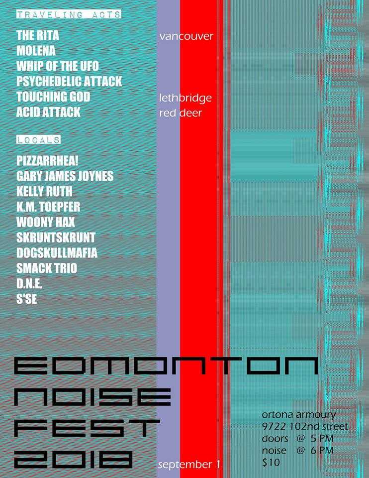 Show Poster for Edmonton Noise Music festival 2